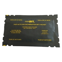 FAST-ACT Hazmat decontamination decon mitt.