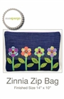 Zinnia Zip Bag Pattern by Sue Spargo,SS080