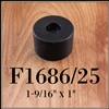 F1686/25 rubber cabinet foot