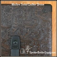 Country Western pattern tolex brown