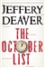 Deaver, Jeffery - October List, The (Signed First Edition)