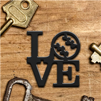 LOVE Baseball Keychain