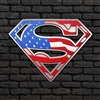 Superman American Flag 3D (2 pieces)