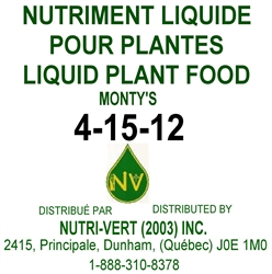 Monty's 4-15-12 Liquid Fertilizer