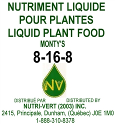 Monty's 8-16-8 Liquid Fertilizer