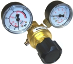 "Adjustable Argon Regulator w/Tank Pressure Gauge, Flow Gauge and 5/32"" Tube Push-In Fitting 334-460-001"