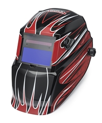 Lincoln Electric Red Fierce Auto Darkening Welding Helmet K3063-1