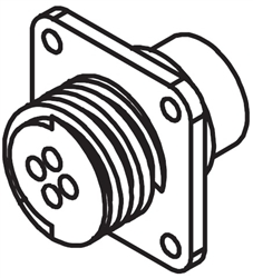 Lincoln Electric Square Flange Female Receptacle S18657