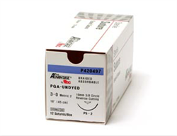 Pro Advantage Undyed PGA Braided Suture Size 4-0, 18""