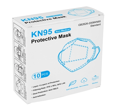 10 Pack of KN95 FDA CE Face Protection Respirator Masks AUTHORIZED SELLER