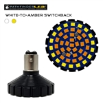 BULLET-STYLE 1157 LED WHITE-TO-AMBER SWITCHBACK BULB [PAIR]