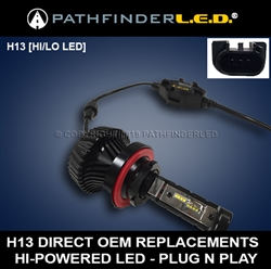 H13 RUGGED UNIVERSAL [HI/LO LED BULB] 4000LM