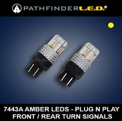 GL1800/F6B - AMBER TURN SIGNAL LED UPGRADE - FRONT OR REAR [PAIR]