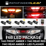 F6B LED CONVERSION PKG [7443 RED+7443 AMBER/LED FLASHER]