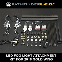 LED FOG LIGHT ATTACHMENT KIT FOR 2018 GOLD WING