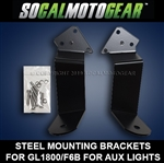 GL1800/F6B LIGHT MOUNT BRACKETS - LOWER MIRROR AUXILARY LIGHT MOUNTS