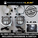 ROUND [GL1800] LED FOG LIGHT KIT W/MOUNTING HARDWARE+SWITCH