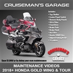 2018+ Gold Wing Maintenance Videos Cruiseman's Garage