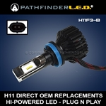 H11 - 6000LM TOURING MODELS - STREET GLIDE LED UPGRADE - PLUG N PLAY