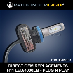 H11 RUGGED 4000LM LED - PLUG N PLAY
