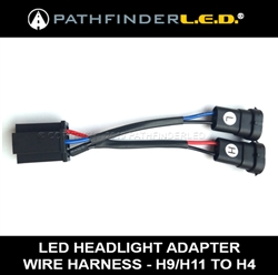 H9/H11 TO H4 - LED HEADLIGHT ADAPTER WIRE HARNESS