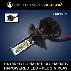 H4 HI/LO - 6000LM - LED HEADLAMP BULB REPLACEMENT - PLUG N PLAY