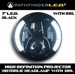 "SHIPS AFTER 6/20/19 [Daytime Running Lights] 7"" LED W/DRL HEADLAMP - BLACK OR CHROME"