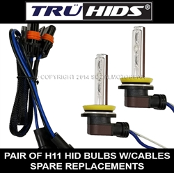 H11 HID BULBs for HARLEY - 2 REPLACEMENT BULBs