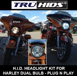 Harley Dual-Bulb HID/LED Conversion Kit [H11 HID-H11NF LED]