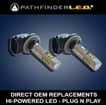 HI-POWERED LED PASSING LIGHTS for HARLEY [PAIR]