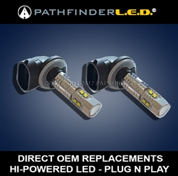 HI-POWERED LED PASSING LIGHTS for HARLEY [PAIR] B/O SH AFTER 5/30/19