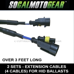HID Ballast Extension Cable Sets [40inches] over 3ft