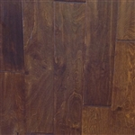 "Engineered Birch Handscraped Flooring, 3/8""x5""xRL,Walnut"