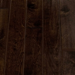 "Engineered Birch Handscraped Flooring, 3/8""x5""xRL,Coffee Bean"