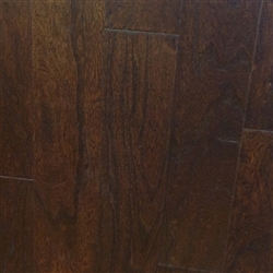 "Engineered Elm Handscraped Flooring, 3/8""x5""xRL, Caffe Espresso"