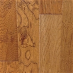 "Engineered Hickory Handscraped Flooring, 3/8""x5""xRL, Wild honey"
