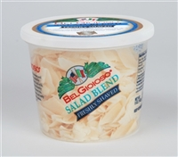 Belgioioso Salad Blend Cheese (Shaved) 12/5 oz Cups - Wheel