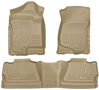 Husky Liners Weatherbeater Floor Mat Set Tan
