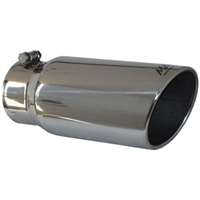 "MBRP 4x5"" Polished T-304 SS Diesel Exhaust Tip-Angled Rolled End"