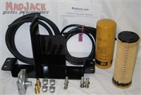 Nicktane Remote Auxiliary Fuel/Water Separator Kit For GM Duramax Diesel 2001-Up