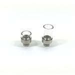 Wide Bore Clear Pyrex Glass Drip Tip