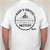 D21 T-SHIRT SKETCHY WHITE