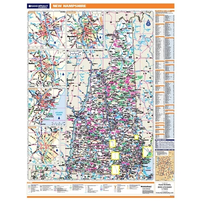 New Hampshire Highway City County map