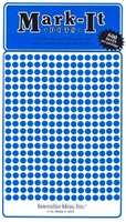 "600 blue 1/8"" map stick-on map dots"