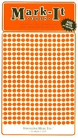 "600 orange 1/8"" map stick-on map dots"