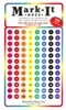 "Stick-on Dots Medium 1/4"" Numbered 1-120 eight colors"