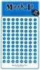 "Stick-on Dots Medium 1/4"" Numbered 1-240 blue"