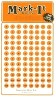 "Stick-on Dots Medium 1/4"" Numbered 1-240 ORANGE"