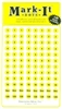 "Stick-on Dots Medium 1/4"" Numbered 1-240 yellow"