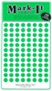 "600 green 1/4"" map stick-on map dots"